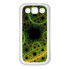 Abstract Circles Yellow Black Samsung Galaxy S3 Back Case (white) by Jojostore