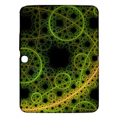 Abstract Circles Yellow Black Samsung Galaxy Tab 3 (10 1 ) P5200 Hardshell Case