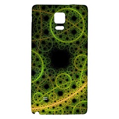 Abstract Circles Yellow Black Samsung Note 4 Hardshell Back Case by Jojostore