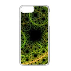 Abstract Circles Yellow Black Apple Iphone 8 Plus Seamless Case (white)