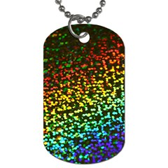 Construction Paper Iridescent Dog Tag (one Side) by Jojostore