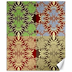 Multicolor Fractal Background Canvas 8  X 10  by Jojostore