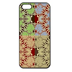 Multicolor Fractal Background Apple Iphone 5 Seamless Case (black)