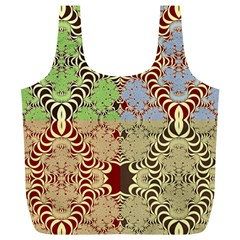 Multicolor Fractal Background Full Print Recycle Bag (xl)