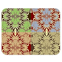 Multicolor Fractal Background Double Sided Flano Blanket (medium)