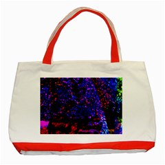 Grunge Abstract Red Yellow Black Classic Tote Bag (red) by Jojostore