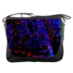 Grunge Abstract Red Yellow Black Messenger Bag
