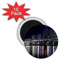 Cleveland Building City By Night 1 75  Magnets (10 Pack)  by Jojostore
