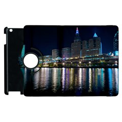 Cleveland Building City By Night Apple Ipad 2 Flip 360 Case by Jojostore