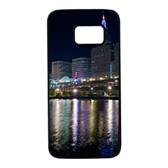Cleveland Building City By Night Samsung Galaxy S7 Black Seamless Case by Jojostore