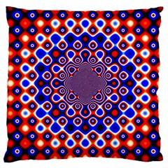 Digital Art Background Red Blue Large Cushion Case (one Side)