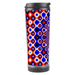 Digital Art Background Red Blue Travel Tumbler