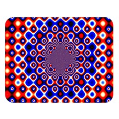 Digital Art Background Red Blue Double Sided Flano Blanket (large)