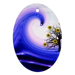 Composing Nature Background Graphic Ornament (oval) by Sapixe