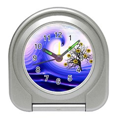 Composing Nature Background Graphic Travel Alarm Clock by Sapixe