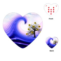Composing Nature Background Graphic Playing Cards (heart) by Sapixe