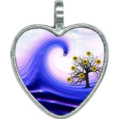 Composing Nature Background Graphic Heart Necklace by Sapixe