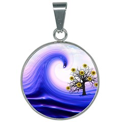 Composing Nature Background Graphic 25mm Round Necklace by Sapixe