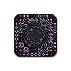Digital Art Background Design Rubber Coaster (square)  by Sapixe