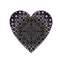 Digital Art Background Design Heart Magnet