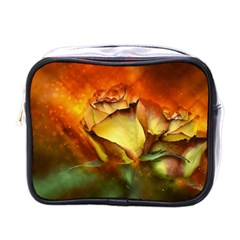 Rose Flower Petal Floral Love Mini Toiletries Bag (one Side) by Sapixe