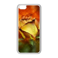 Rose Flower Petal Floral Love Apple Iphone 5c Seamless Case (white) by Sapixe