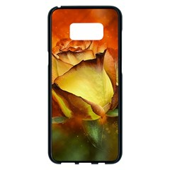 Rose Flower Petal Floral Love Samsung Galaxy S8 Plus Black Seamless Case