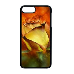Rose Flower Petal Floral Love Apple Iphone 8 Plus Seamless Case (black) by Sapixe