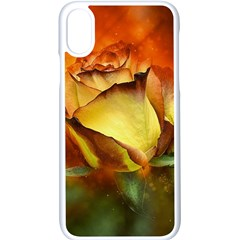 Rose Flower Petal Floral Love Apple Iphone X Seamless Case (white)