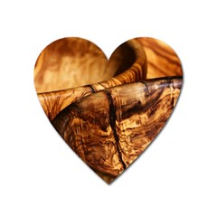 Olive Wood Wood Grain Structure Heart Magnet by Sapixe