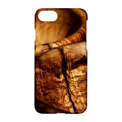 Olive Wood Wood Grain Structure Apple Iphone 8 Hardshell Case