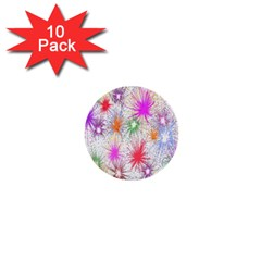 Star Dab Farbkleckse Leaf Flower 1  Mini Buttons (10 Pack)