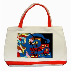Creativeness Art Illustration Classic Tote Bag (red)