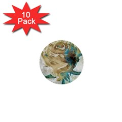 Rose Flower Petal Love Romance 1  Mini Buttons (10 Pack)
