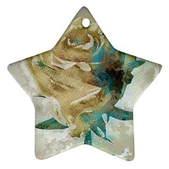Rose Flower Petal Love Romance Star Ornament (two Sides) by Sapixe