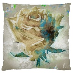 Rose Flower Petal Love Romance Large Cushion Case (two Sides)