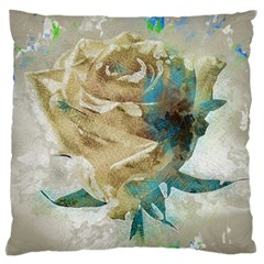 Rose Flower Petal Love Romance Large Flano Cushion Case (two Sides)
