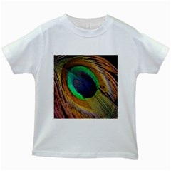 Bird Feather Background Nature Kids White T Shirts