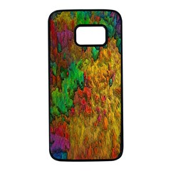 Background Color Template Abstract Samsung Galaxy S7 Black Seamless Case