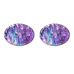 Background Peel Art Abstract Cufflinks (oval)