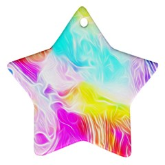 Background Drips Fluid Colorful Ornament (star)