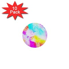 Background Drips Fluid Colorful 1  Mini Buttons (10 Pack)
