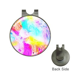 Background Drips Fluid Colorful Hat Clips With Golf Markers