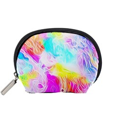 Background Drips Fluid Colorful Accessory Pouch (small)