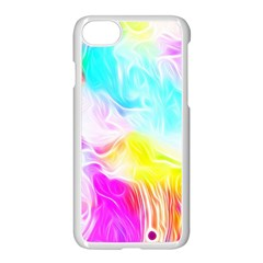 Background Drips Fluid Colorful Apple Iphone 7 Seamless Case (white) by Sapixe