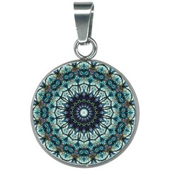 Pattern Abstract Background Art 20mm Round Necklace
