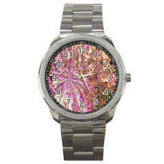 Background Swirl Art Abstract Sport Metal Watch by Sapixe