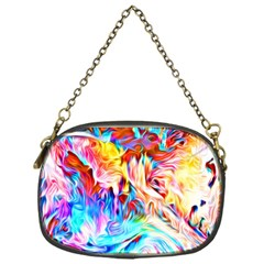 Background Drips Fluid Colorful Chain Purse (one Side) by Sapixe