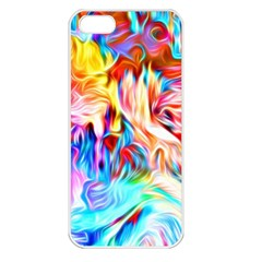 Background Drips Fluid Colorful Apple Iphone 5 Seamless Case (white)