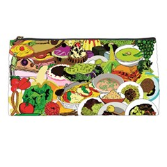 Eat Food Background Art Color Pencil Cases